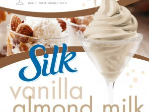 SILK Vanilla Almond milk frozen yogurt in a Yogurtini branded cup