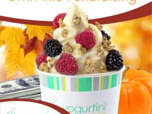 branded cup of yogurt with fruit and granola