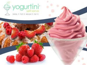 Yogurtini branded with a berry bundt cake